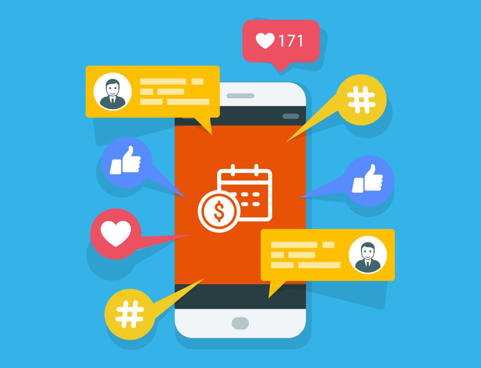 debt collection on social media