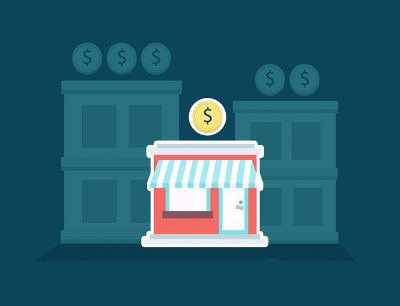 small business debt collection store front